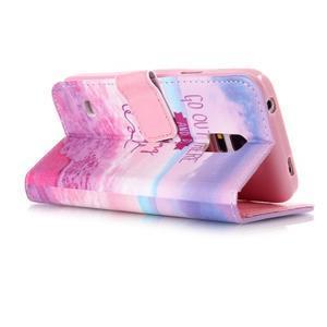 Stand peňaženkové puzdro pre Samsung Galaxy S5 mini - myšlienky - 3