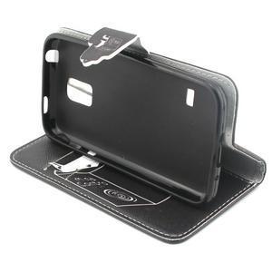Peňaženkové puzdro pre mobil Samsung Galaxy S5 mini - kniha a mačička - 3