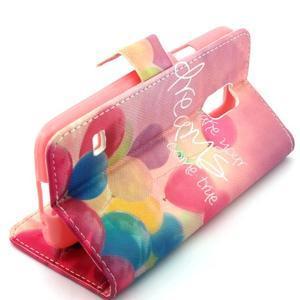 Peňaženkové puzdro pre mobil Samsung Galaxy S5 mini - balónky - 3