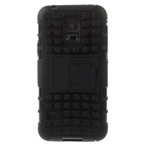 Outdoor odolný obal pre mobil Samsung Galaxy S5 mini - čierný - 3