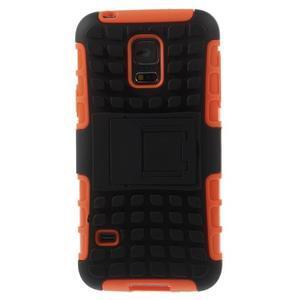 Outdoor odolný obal pre mobil Samsung Galaxy S5 mini - oranžový - 3