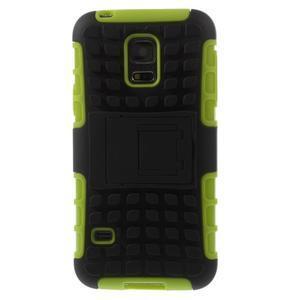 Outdoor odolný obal na mobil Samsung Galaxy S5 mini - zelený - 3