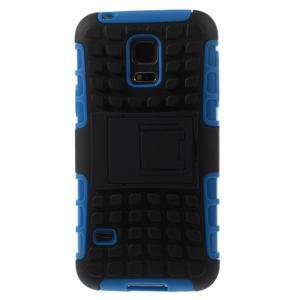 Outdoor odolný obal pre mobil Samsung Galaxy S5 mini - modrý - 3