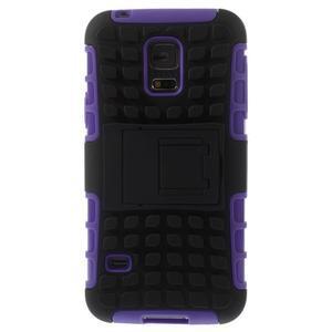 Outdoor odolný obal pre mobil Samsung Galaxy S5 mini - fialový - 3