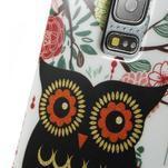 Owls gélový obal pre Samsung Galaxy S5 mini - paní sova - 3/4