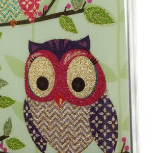 Owls gélový obal pre Samsung Galaxy S5 mini - sovy na vetve - 3