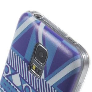 Ultratenký obal na mobil Samsung Galaxy S5 mini - geo tvary - 3