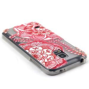 Transparentný gélový obal pre mobil Samsung Galaxy S5 mini - mandala - 3