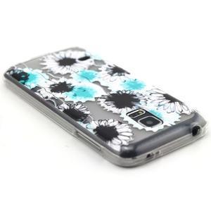 Transparentný gélový obal pre mobil Samsung Galaxy S5 mini - sedmikrásky - 3