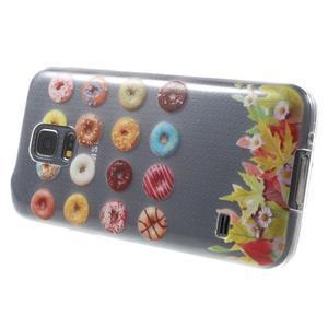 Gélový kryt pre mobil Samsung Galaxy S5 mini - donut - 3