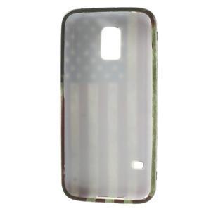 Softy gélový obal pre Samsung Galaxy S5 mini - US vlajka - 3