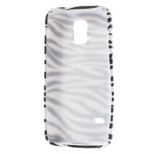 Softy gelový obal na Samsung Galaxy S5 mini - zebra - 3