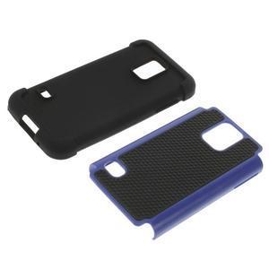 Odolný kryt 2v1 na mobil Samsung Galaxy S5 mini - tmavěmodrý - 3