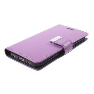 Richdiary PU kožené puzdro pre mobil Samsung Galaxy S6 Edge - fialové - 3