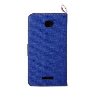 Jeans puzdro pre mobil Sony Xperia E4 - modré - 3