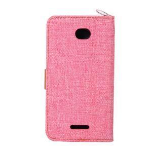 Jeans pouzdro na mobil Sony Xperia E4 - růžové - 3