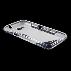S-line gélový obal pre Sony Xperia E4g - transparentný - 3