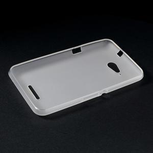 Obal z matného gélu pre Sony Xperia E4g - biely - 3