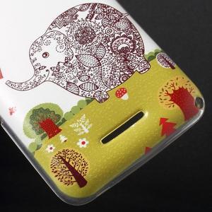 Gélový obal na Sony Xperia E4g - zamilovaný slon - 3