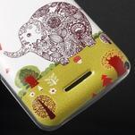 Gélový obal na Sony Xperia E4g - zamilovaný slon - 3/5