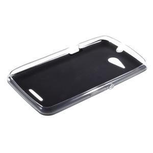 Gélový obal na Sony Xperia E4g s koženkovým chrbtom - čierny - 3