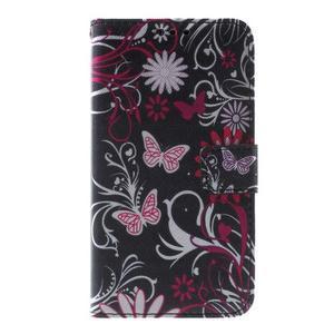 Peňaženkové puzdro pre Sony Xperia E4g - motýľikovia - 3