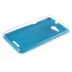 Gélový obal na Sony Xperia E4g s koženkovým chrbtom - modrý - 3