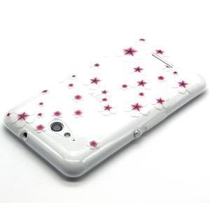 Vzorový gélový obal na Sony Xperia E4g - kvetinky - 3