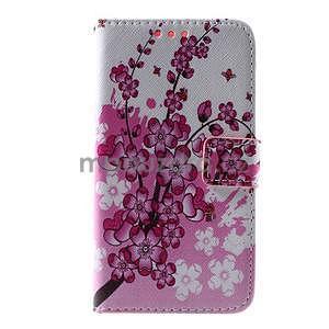 Peňaženkové puzdro na Sony Xperia E4g - kvitnúca vetvička - 3