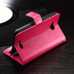 Horse PU kožené puzdro pre mobil Sony Xperia E4g - rose - 3