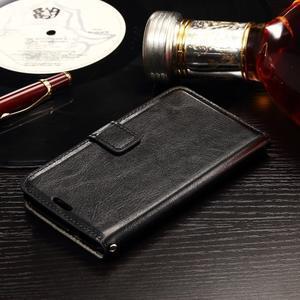 Horse PU kožené pouzdro na mobil Sony Xperia E4g - černé - 3
