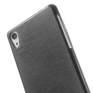 Broušený gelový obal na Sony Xperia Z2 - černý - 3