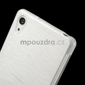 Brúsený gélový obal pre Sony Xperia Z2 - biely - 3