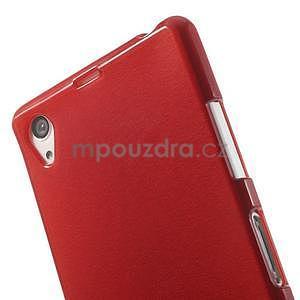 Broušený gelový obal na Sony Xperia Z2 - červený - 3