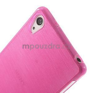 Brúsený gélový obal pre Sony Xperia Z2 - rose - 3