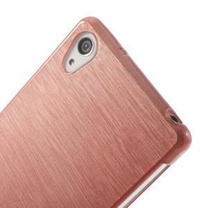 Brúsený gélový obal pre Sony Xperia Z2 - ružový - 3