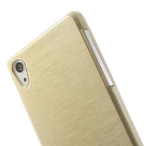 Brúsený gélový obal pre Sony Xperia Z2 - zlatý - 3