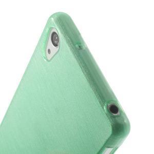 Brúsený gélový obal pre Sony Xperia Z2 - azurový - 3