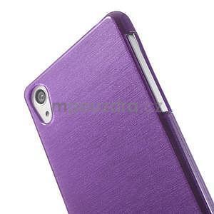Brúsený gélový obal pre Sony Xperia Z2 - fialový - 3