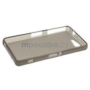 sivý matný gélový obal pre Sony Xperia Z3 Compact - 3