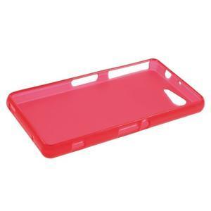 Červený matný gélový obal pre Sony Xperia Z3 Compact - 3