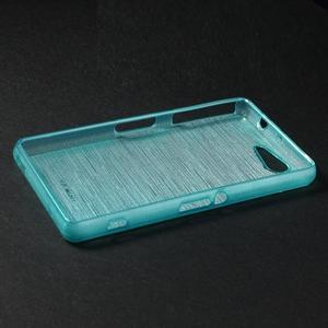 Brúsený obal pre Sony Xperia Z3 Compact D5803 - tyrkysový - 3