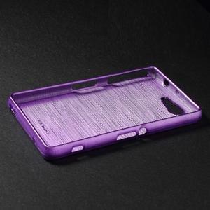 Brúsený obal pre Sony Xperia Z3 Compact D5803 - fialový - 3