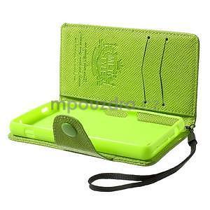Zelené peněženkové pouzdro na Sony Xperia Z3 Compact - 3
