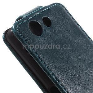 Tmavě modré flipové pouzdro na Sony Xperia Z3 Compact - 3