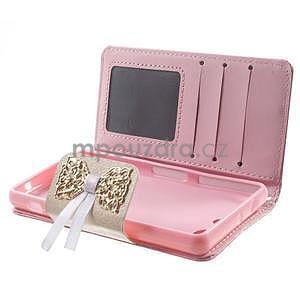 Zapínacie puzdro s mašličkou pre Sony Xperia Z3 Compact - ružové - 3