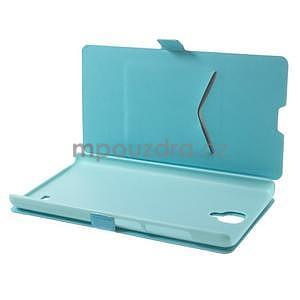 Kožené puzdro na Xiaomi Hongmi Note - světle modré - 3