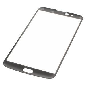 Celoplošné fixačné tvrdené sklo pre displej LG K10 - čierne - 3