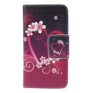Emotive PU kožené puzdro pre mobil Samsung Galaxy A5 - srdca - 3