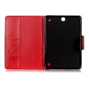 Butterfly PU kožené puzdro pre Samsung Galaxy Tab A 9.7 - červené - 3